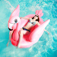 1.5m 60inches Inflatable Pink Flamingo Swimming Floats Ride on Water Toys Beach Pool Fun Boia 2019 Newest INS Flamingo Swim Ring