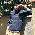 Simwood 2016 novo inverno do outono do algodão blusas kintwear pullovers dos homens moda casual slim fit my2046