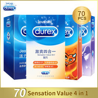 Durex Condom 70 Pcs/Lot Natural Latex Smooth Lubricated Contraception Condoms for Men Sex Toys Products Shop Wholesale