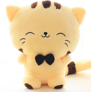 20CM Cute Kawaii Cat with Bow Plush Dolls Toys Gift Stuffed Soft Doll Cushion Sofa Pillow Gifts Xmas Gift Party Decor 2