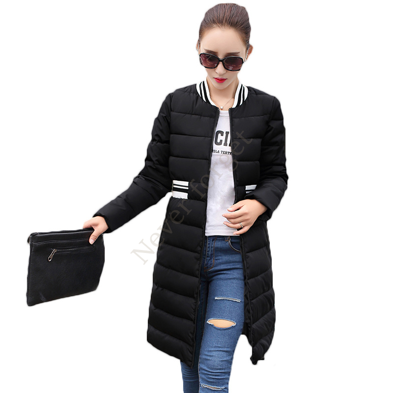 Hot Autumn Women Clothing Solid Jacket Winter Female 2017 Korean Slim Long Parka Coats Warm Women's Winter Coat HC819