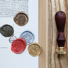 Wax Seal Stamp Retro Wood Classic Sealing Wax Seal Stamp Decorative For You Good Luck Pattern Wedding Invitation Antique Stamp 1x wax seal stamp retro wood classic sealing wax seal stamp decorative rose tree of life wedding invitation antique stamp