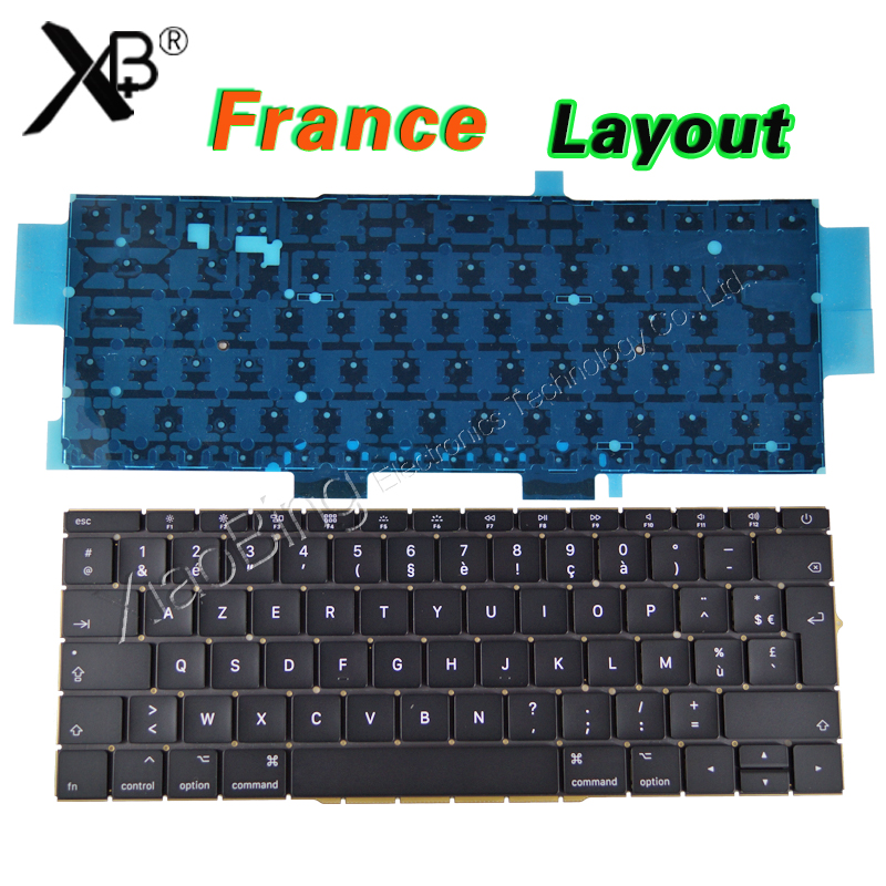 New Laptop A1708 AZERTY Layout FR Keyboard Backlight Backlit for Macbook Retina Pro 13 A1708 French Keyboard 2016 2017Year new laptop keyboard for sony vaio vpceb15fbbi fr french layout