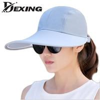 Dexing 2017 NEW Visors Hat Summer Women Sun Shading Dual Hat Anti Uv Large Brim