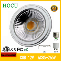 Free Shipping 12W LED Bulb COB LED Spot Light Ar111 g53 E27 GU10 led lamp 85 265v