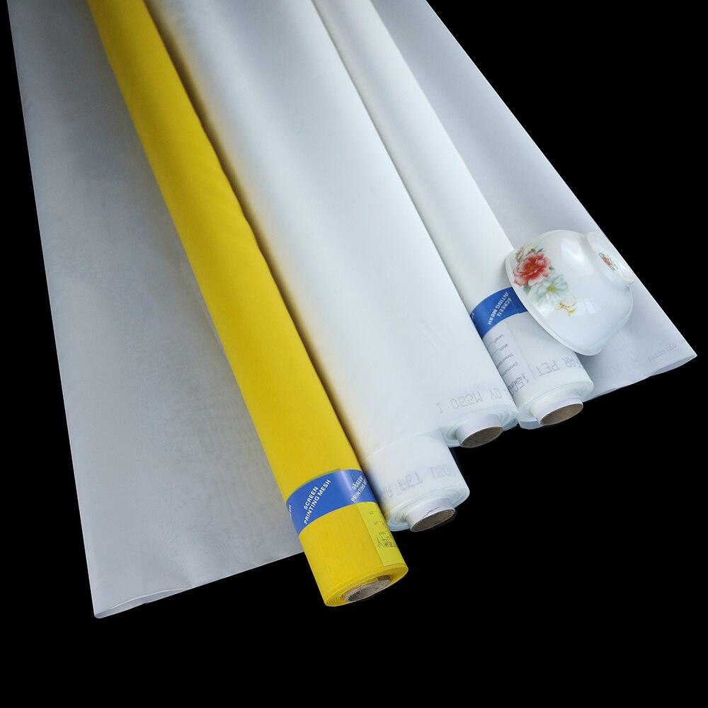 30 mètres 47 T 120 maille 55um blanc sérigraphie maille faible allongement maille 100% polyester monofilament maille pochoir tissu-in Écrans pour porte et fenêtre from Bricolage    1