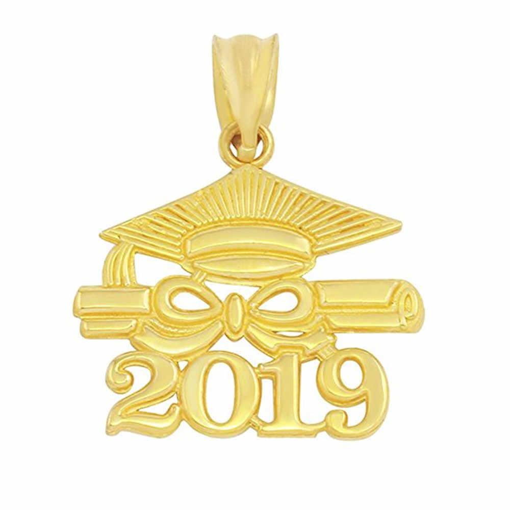 โรงเรียนอุปกรณ์เสริมขายส่งราคาถูก Alloy Class 2019 มีหมวก Cap Graduation Charms Bail Graduates จี้ DIY