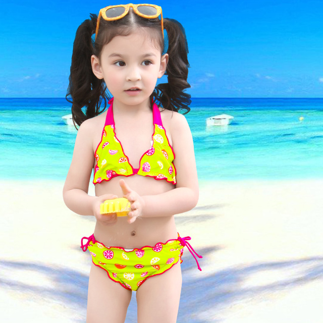 Bikini 2017 bambini bambino a due pezzi costumi da bagno 9y belle ragazze tankini surf costume - Costumi da bagno per ragazze ...