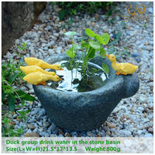 ED original quality design big size decorative flowerpot fairy garden creative modern style stone shape duck home/garden decor