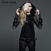 New Punk Rave Emo Rockabilly Gothic Vintage Top Shirt Cotton Women fashion M XL 3XL T407