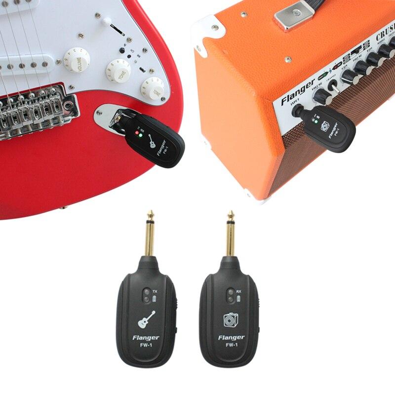 flanger professional uhf wireless electric guitar transmitter receiver system built in battery. Black Bedroom Furniture Sets. Home Design Ideas