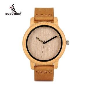 Image 2 - Bobo Vogel Bamboe Houten Horloges Mannen Japan Quartz Horloge Voor Mannelijke Graveren Pointer Logo Laser Aangepaste Dropshipping