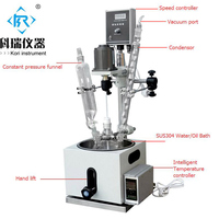 10L single lined jacketed glass reactor with PTFE agitator
