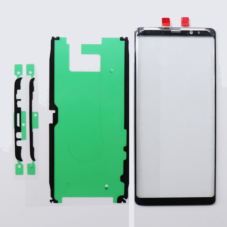 """10pcs Original For Samsung Galaxy Note 8 N950 Front Screen LCD Glass Lens Outer Glass Replacement 6.3"""" Top Lens Panel+Adhesive"""