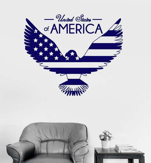 online shop bald eagle united states wall stickers vinyl wall decal