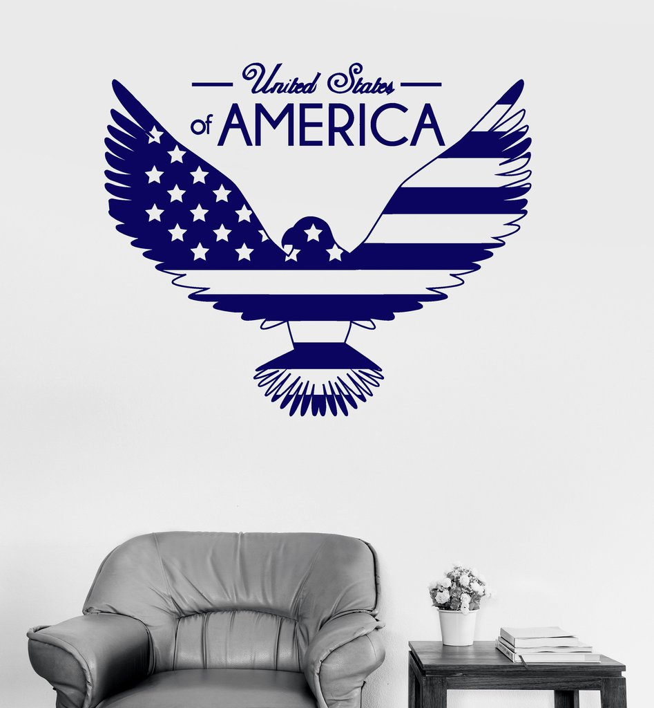 online get cheap usa flag wall decals aliexpresscom  alibaba group - bald eagle united states wall stickers vinyl wall decal flag symbol usasticker mural decor living