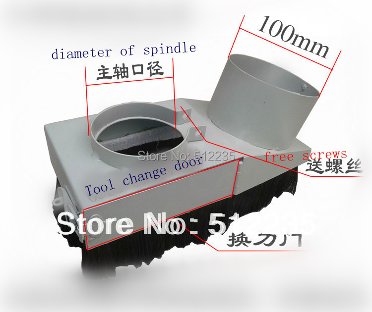 ФОТО 100mm Vacuum Cleaner Engraving machine Dust Cover  for CNC Router and  spindle motor