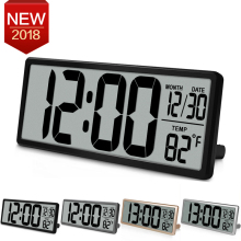 Extra Large Vision Digital Wall Clock Jumbo Alarm Clock 13 8 LCD Display Alarm Snooze Calendar