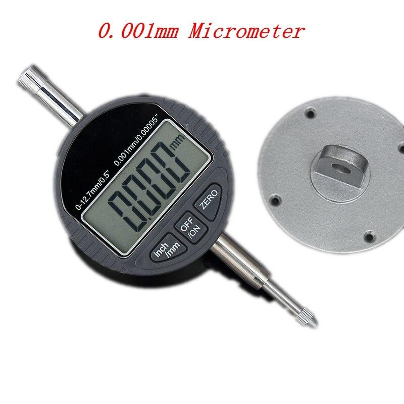 """0,001mm Elektronische Mikrometer 12,7mm 0,5 """"lcd Digitale Mikrometerschraube Metric/zoll Messuhr Meter Tiefe Messen Werkzeuge Kunden Zuerst"""