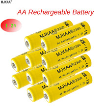 10pcs AA Rechargeable Battery AA Ni-MH 1.2V 2300mAh Ni-MH 2A Bateria Rechargeable Batteries for Camera toys