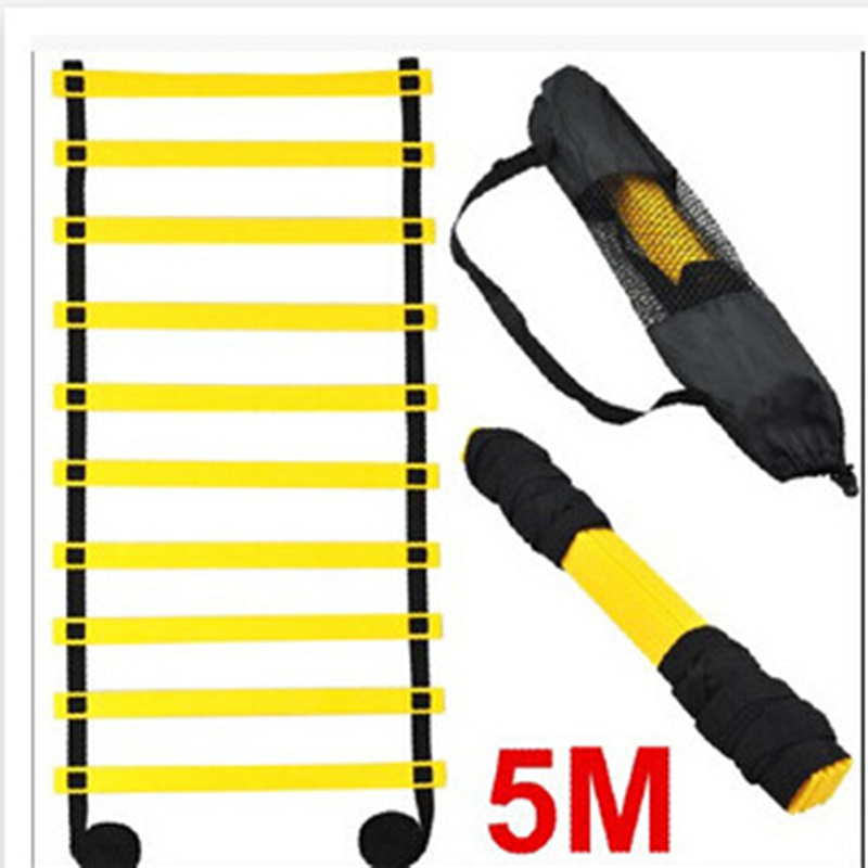 Agility Ladder Soccer Training Equipment 5 M 9 Rung Athletics Football Ladder Rope-ladder цена