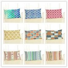 Новинка, 30x50, высокое качество, креативная мода, стиль, геометрический принт, домашний декор, наволочка для подушки, хлопок, из льна для стула, подушки, Cojines