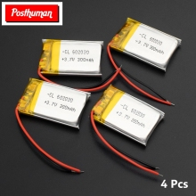POSTHUMAN 1/2/4x 3 7V Volt Li Po Ion Lipo Rechargeable Batteries 602030 Lithium Polymer Battery For Smart Watch PSP LED Lamp RC