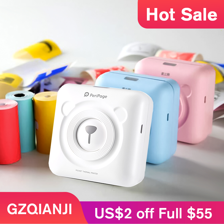 GZQIANJI Portable Bluetooth 58mm Mini Wireless POS Thermal Picture Photo Printer