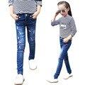 Bottoms criança para Meninas Dos Desenhos Animados calças Jeans Crianças Denim Calças Calças Justas Do Bebê Roupas Infantis Outono Magro Calças 2-12Y
