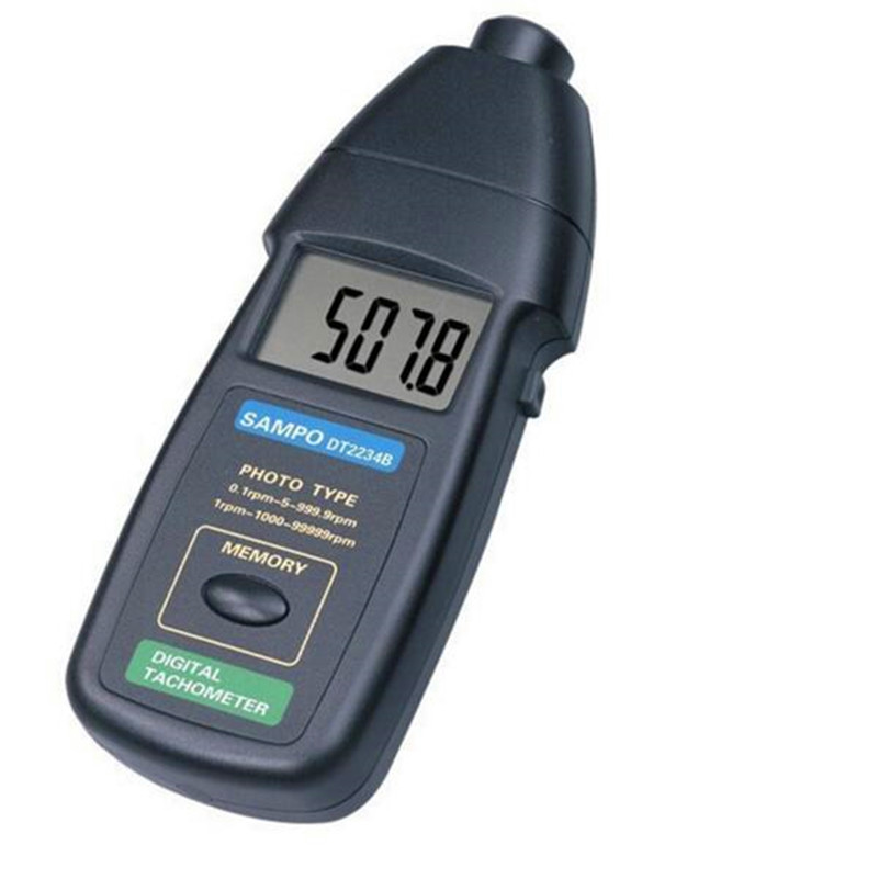 DT2236B 2in1 Digital Laser Photo Contact Tachometer 99,999 RPM laser type tachometer portable digital tachometer