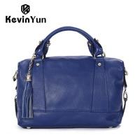 Luxury Women Leather Handbags Genuine Leather Bag Designer Brand Bag Female Shoulder Bags Ladies Tassel Handbag