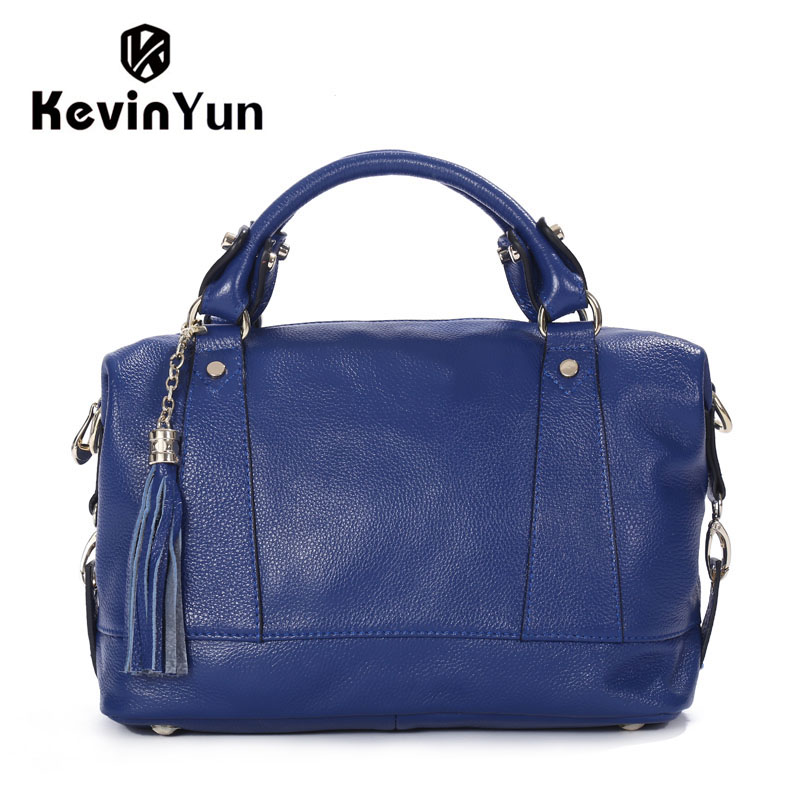 KEVIN YUN Luxury women leather handbags genuine leather bag designer brand bag female shoulder bags ladies tassel handbag ladies genuine leather handbag 2018 luxury handbags women bags designer new leather handbags smile bag shoulder bag