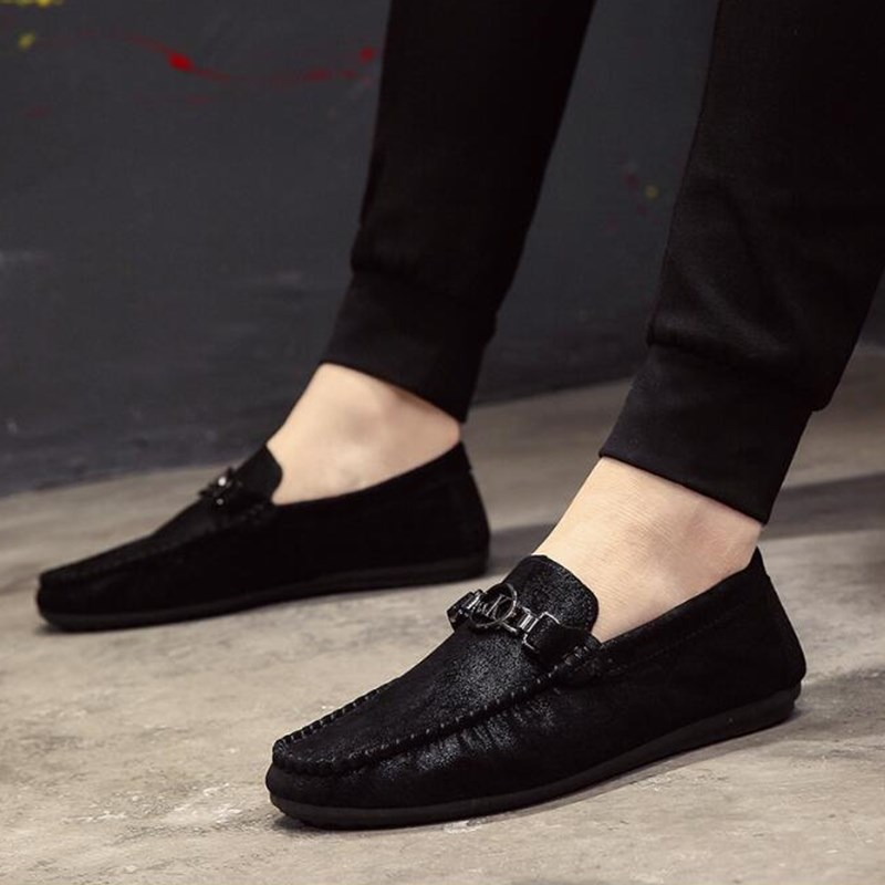 Slip Luz Hechos Caliente Hombre Venta Los Calzado gray Cómodo Suave De Mano La Zapatos 2019 Zapato Hombres Black Pisos A Casual En Verano T0OzCq