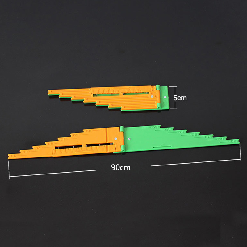 Outdoor Tools Multifunctional Ruler Foldable Plastic Camping Sport Easy Carrying EDC Tool P5