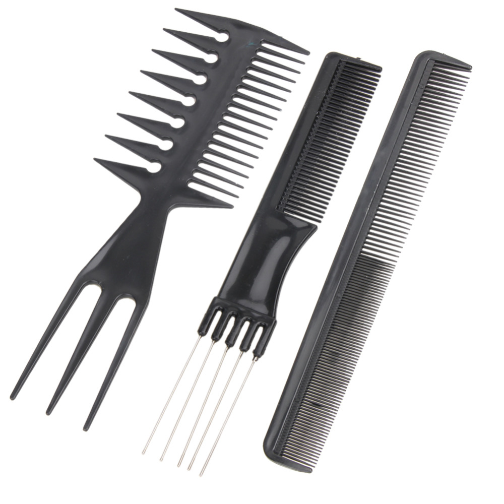 hair styling comb מוצר 10pcs set professional hair brush comb salon barber 3449