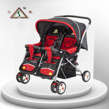 Baby car twins stroller buggiest double stroller sanle 501s two-way trolley xiadian(China)