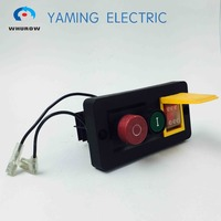 Electromagnetic switch 10 Pin On Off red green Push Button 16A 230V rocker switch 6 pin FWD REV combined switch YCZ6