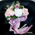 Новый свадебный букет! искусственный шелк цветок невесты свадьба/свадебный букет Невесты холдинг цветок для свадьбы свободная перевозка груза