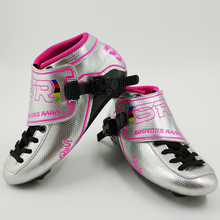 Профессиональный Скорость коньков SR коньки Для женщин Для мужчин взрослых роллеров дети на роликах обувь углерода Новое поступление Сапоги Розовый Синий