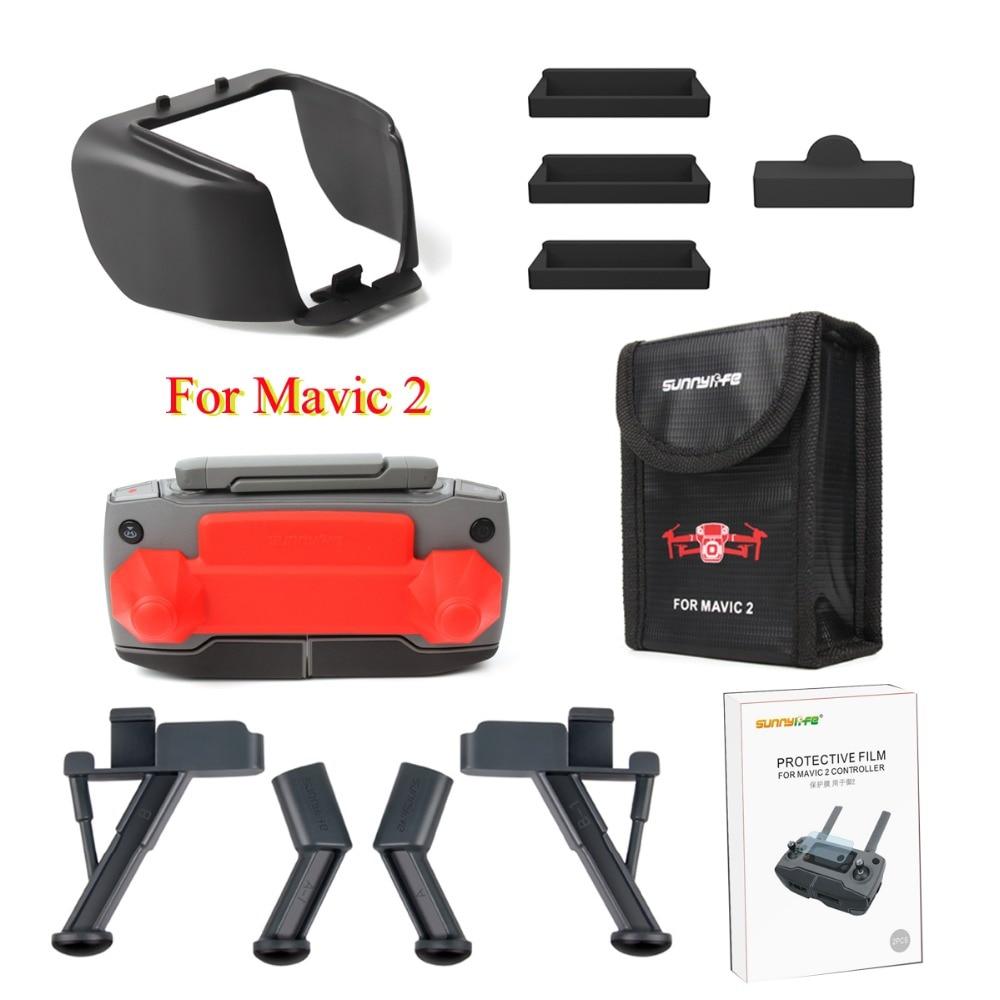 6 in1 Accessories Set Lens Hood Fit fo Rocker Protector Landing Gear Battery Storage Bag Dustproof Plug for DJI Mavic 2 Pro Zoom