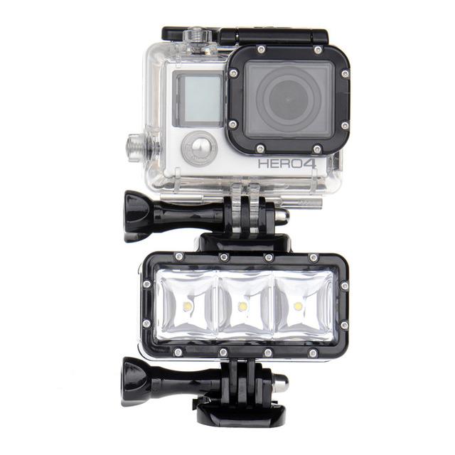 Acessórios Gopro Debaixo D' Água Local LEVOU Luz Para Câmera Esporte de Ação Para gorp hero 3 + 2 1 4 xiaomi xiaoyi mini câmera para assim nova