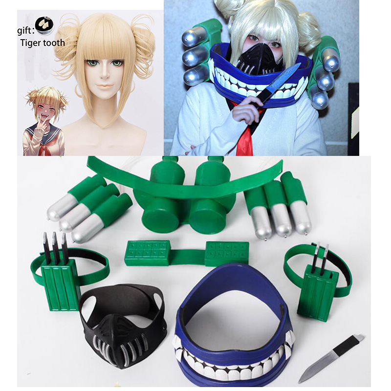 Boku No My Hero Academia Himiko Toga Cosplay Wig Mask Cosplay Props Accessories For Halloween Party