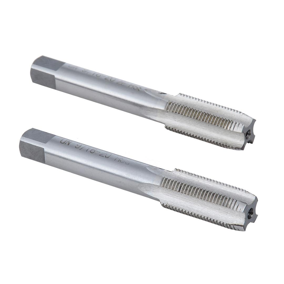 2 PCS Gauche/Droite HSS TPI Pipe Taper Tap 9/16-20 USA Standard produit longue durée de vie Facile à utiliser et Maintenir Conique du robinet