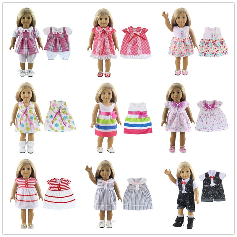 15 Colors American Girl Doll Dress 18 Inch Doll Clothes And Accessories Dresses 15 colors american girl doll dress 18 inch doll clothes and accessories dresses