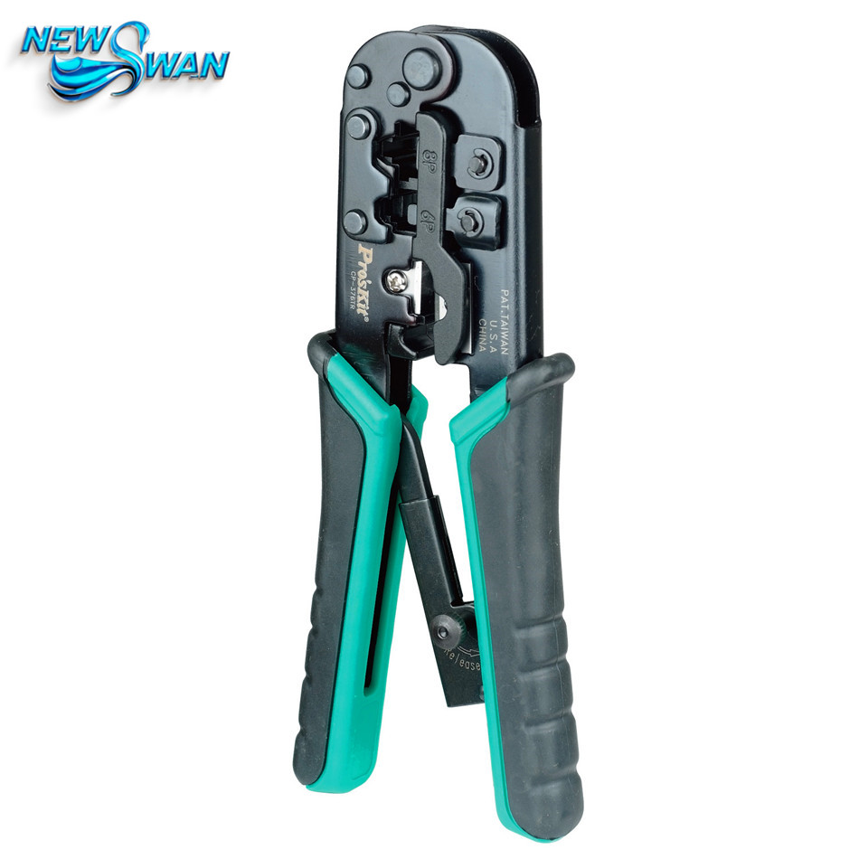 4P/6P/8P Telecom Crimping Tool (190mm) Plastic Steel Cable Network Crystal Head Crimping Pliers