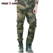 Military Camouflage Men Cargo Pants 3 Colors Cotton Joggers Casual Man Pants Tactical Pants Pocket Trousers For Male Large Size
