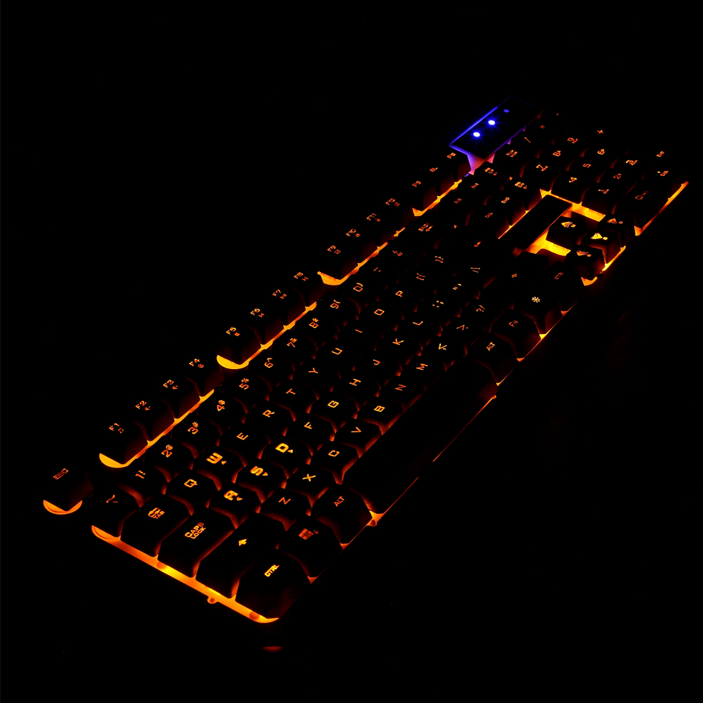 USB Wired Gaming Keyboard 104 Keys Backlit Keyboards Mechanical Feeling Metal Gamer Keyboard For Computer Desktop мультиварка polaris pmc 0351ad медный
