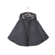 Baby Girls Hooded Cape Coat Wool Blend Poncho Winter Bating Sleeve Jackets Clothes Children Christmas Clothing 1-7T ZZL02