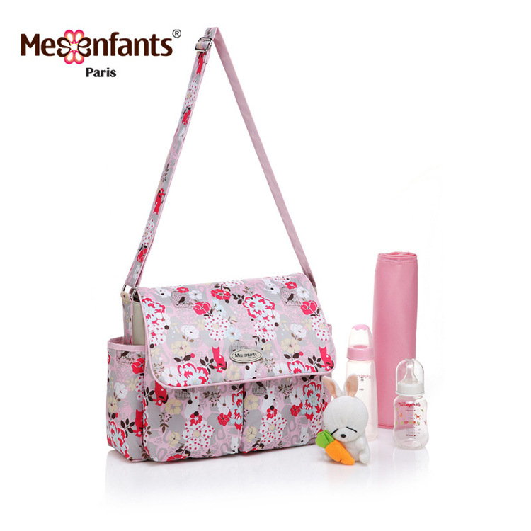 Mesenfants 4 PCS/set Baby Nappy Bags Multifunction Diaper Bag Mother Maternity messenger bags hobos Baby Stroller Bag