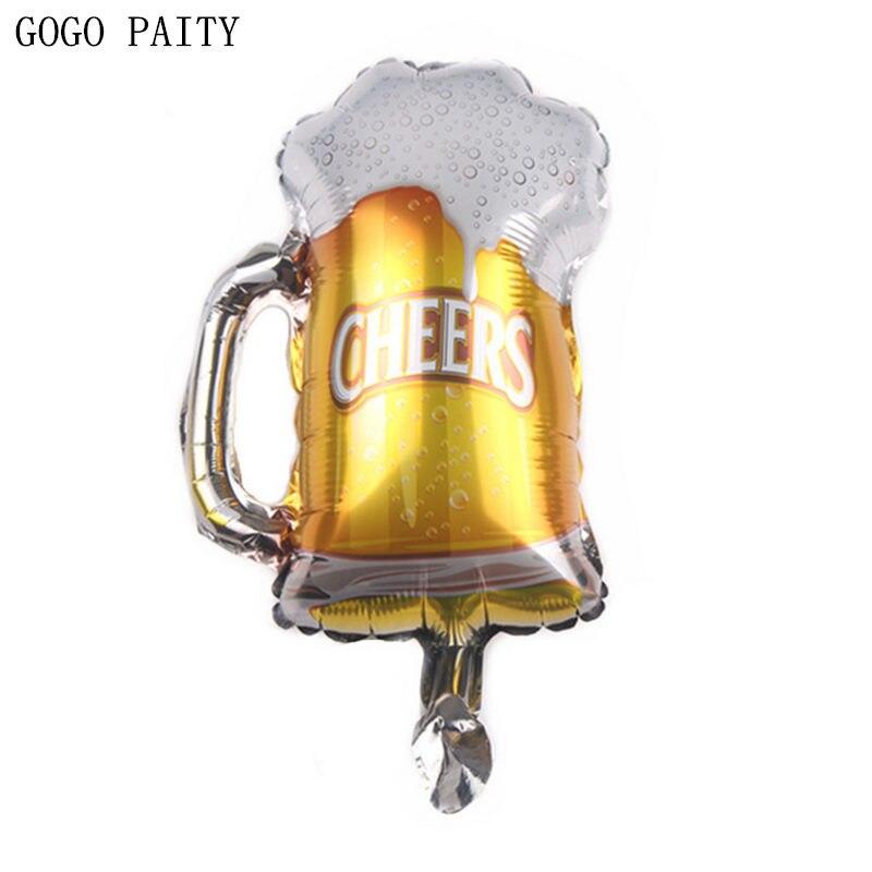 GOGO PAITY   New Mini Beer Aluminium Balloon Balloon Bar Decoration Summer Party Arrangement Balloon Wholesale